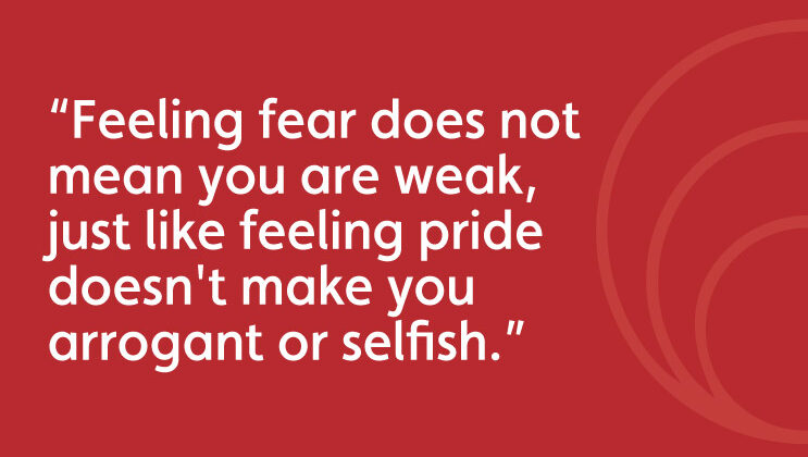 Feeling fear quote